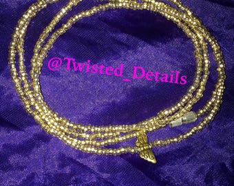 Gold Waistbeads with Butterfly Charm