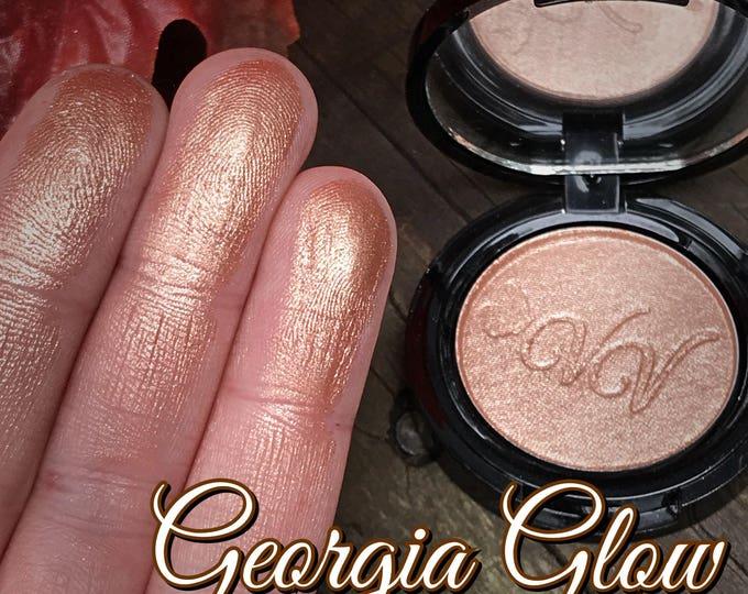 GEORGIA GLOW - Pressed Highlighter/ Eyeshadow / Topper - Peach based Copper Bronze