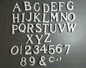 Set of 2.5in. plastic bulletin board menu letters and numbers