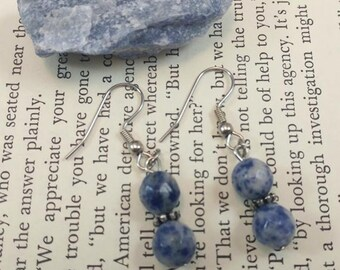 Blue Sodalite Dangle Earrings