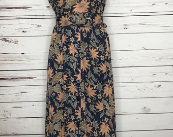 Ladies 70's vintage floral printed dress