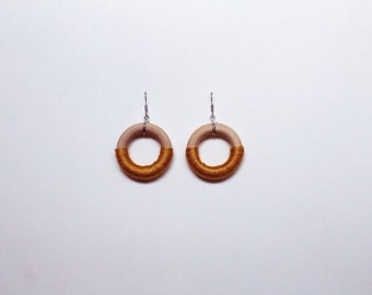 Madera Earrings in Mustard