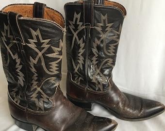 Vintage Justin cowboy boots-size 9D-western boots