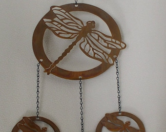 Detailed Dragonfly in Oval Wind chime