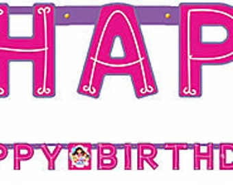 Girls Happy Birthday Banner 7ft