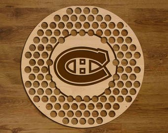 Montreal Canadiens 2 Beer Bottle Cap Holder USA Laser Engraved Boyfriend Hockey Gift for Him, Gift for Dad, Groomsmen gift, Christmas Gift