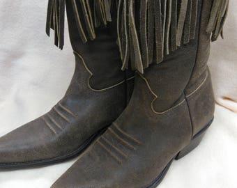 Stylish, Bottes Western Femme - Marron - Marron (Bois), 40