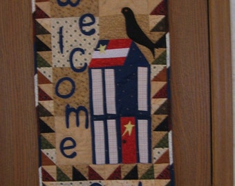 Welcome Summer Wall Hanging Appliqued and Quilted