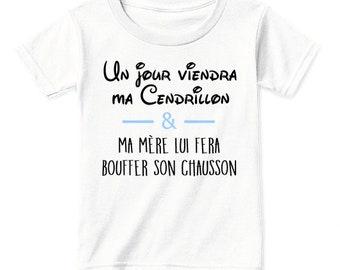 Someday my Cinderella... T-shirt boy 100% handmade