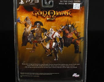 God of War PS3 Series 1 Hercules Action Figure  & MOC DC Direct RARE  Play Station  3