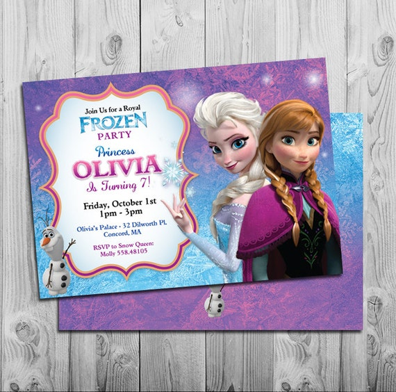 Personalized frozen birthday invitations boatremyeaton personalized frozen birthday invitations filmwisefo