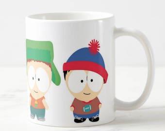 South Park Mug - South Park Preschool - Cartman Kyle Stan Kenny - Funny Mug - Funny Gift - Gift for Her - Gift for Him - Birthday