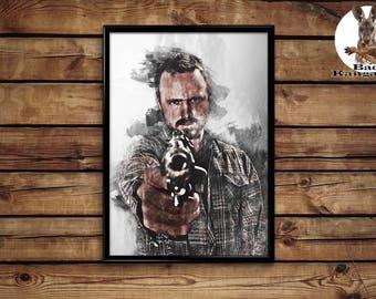 Jesse Pinkman poster Breaking bad wall art home decor print