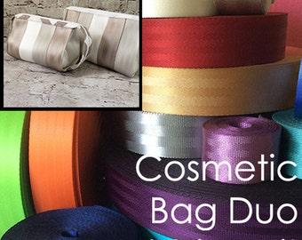 Seat Belt Webbing Kit: Cosmetic Bag Duo