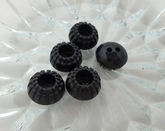 Black Plastic Buttons