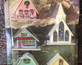 Vintage Regency Christmas Alpine Village 1960's