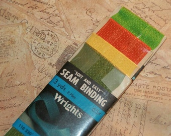 Vintage Seam Binding Still in Original Package-Fall Colors-12 yards