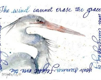 Blue Heron Greeting and Note Card