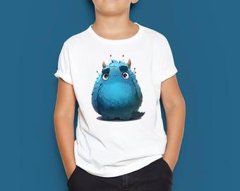 Blue monster baby T-shirt, Blue monster toddler T-shirt, Blue monster kid T-shirt, Monster baby, Monster toddler, Monster kid, Birthday boy