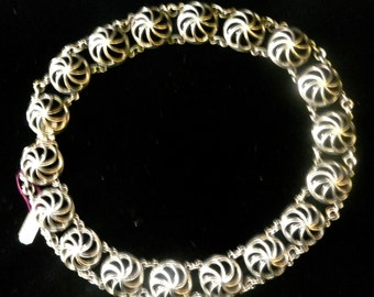 A Sterling Napier bib necklace ,modernist with beautiful whimsy