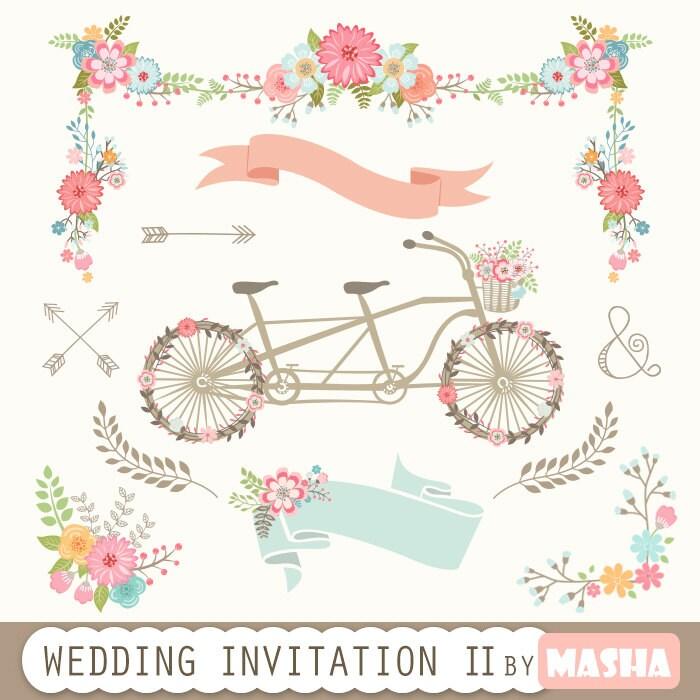 Wedding Invitation Clipart II: WEDDING INVITATION