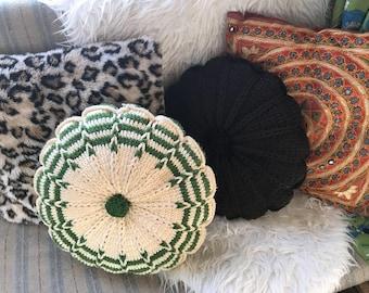 VINTAGE 70s / Round Decorative Pillows
