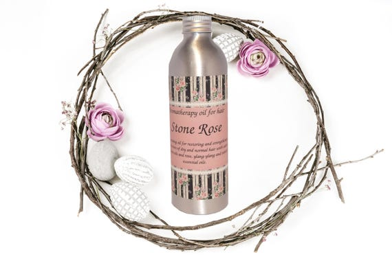 "Organic and regenerating aromatherapy oil for hair ""Stone Rose"" 240 gr"