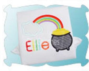 Pot of gold girls St. Patricks day shirt - Pot of gold- Over the rainbow- SAMPLE SALE Rainbow birthday