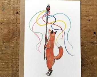 May Fox // Greeting Card
