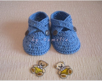Baby booties/Cozy Baby Booties/Infant Crib Booties/Kids Boots and Shoes