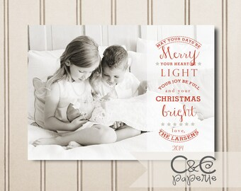 Bright Christmas--Christmas Card Template for Adobe Photoshop, Photographer Template, Instant Download, DIY, Commercial Use