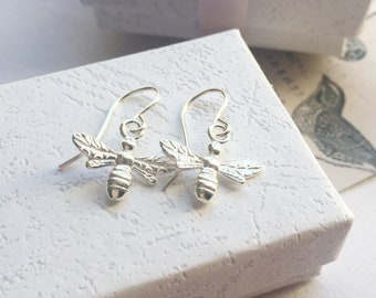 Sterling Silver Bee Earrings Bee Jewellery Bridesmaids Gifts Gifts for Her Gifts under 25 Easter Gifts Bees