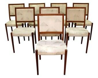 Mid-Century Dining Chairs Danish Modern Svegards Markaryd Teak Dining Chairs-Set of 8