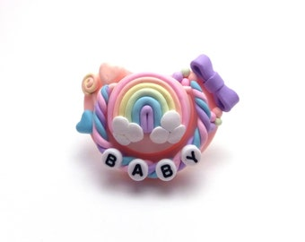 Rainbow Sweets Paci/Adult Decorated Paci/Age Regression Paci