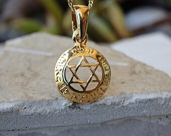 Gold jewish jewelry Etsy