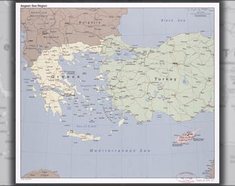 Poster, Many Sizes Available; Cia Map Of Aegean Sea Region Greece & Turkey 2006