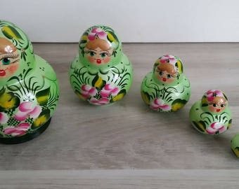 Very cute matryoshka МАТРЁШКИ nesting doll, nesting dolls 5 PCs