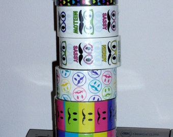 Rare Discontinued Rue 21 Duct Tape Roll Mad About Mustaches ONLY ONE LEFT Rainbow Color Block