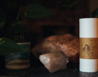 temple ~ patchouli + lavender body dust ~ organic body powder ~ talc free feminine hygiene