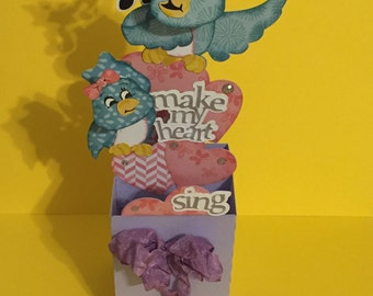 You make my heart sing box card