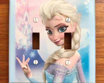 Disney Frozen Elsa Light switch plate cover girls room // ** Same Day Shipping