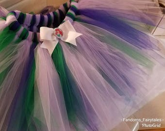Ariel The Little Mermaid  Boutique Tutu-costume or cosplay-Child, adult or adult running length