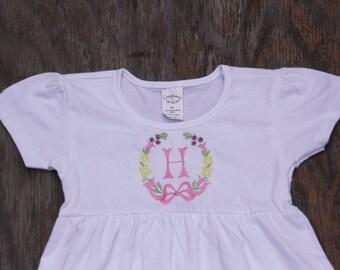 Monogrammed little girls dress, embroidered dress, monogrammed dress, girls dress, monogrammed dress