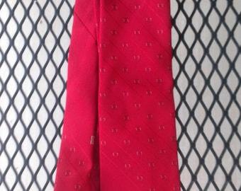 Givenchy Mens Necktie Paris Vintage  Red Classic Silk Necktie