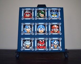Mega Man 3 Boss Selection Canvas Print