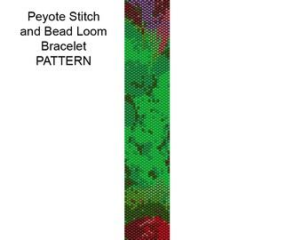 Peyote Stitch Bracelet Pattern - Bead Loom Weaving Bracelet Pattern - PP403