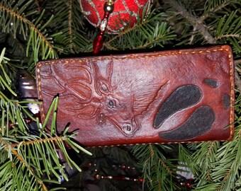 Hand tooled men's wallet