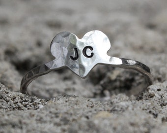 Personalized Heart Ring
