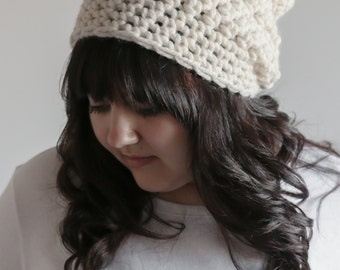 Slouchy Beanie Hat Chunky Crochet Cap | THE TOFT in Fisherman