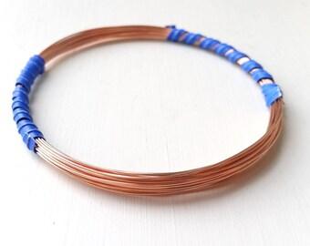 24ga half-hard copper wire, 20 feet, 99.9% pure copper - bare copper wire, fine copper wire, hardened wire, 20'